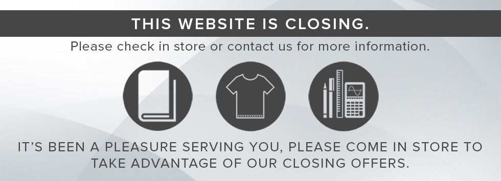 This website is closing. Please check in store or contact us for more information. It's been a pleasure serving you. Please come in store to take advantage of our closing offers.